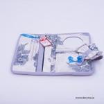 5025-MB. Портмоне с огледало Винтидж сини рози